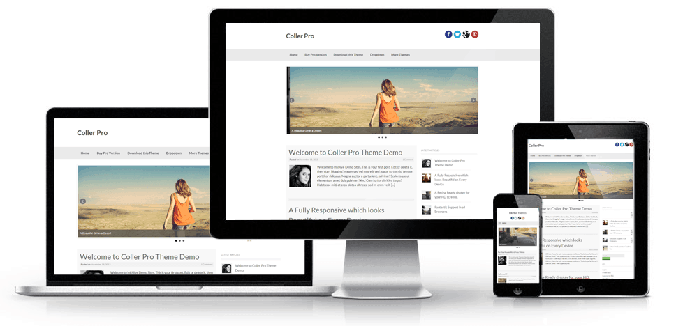 Coller Responsive Screenshot