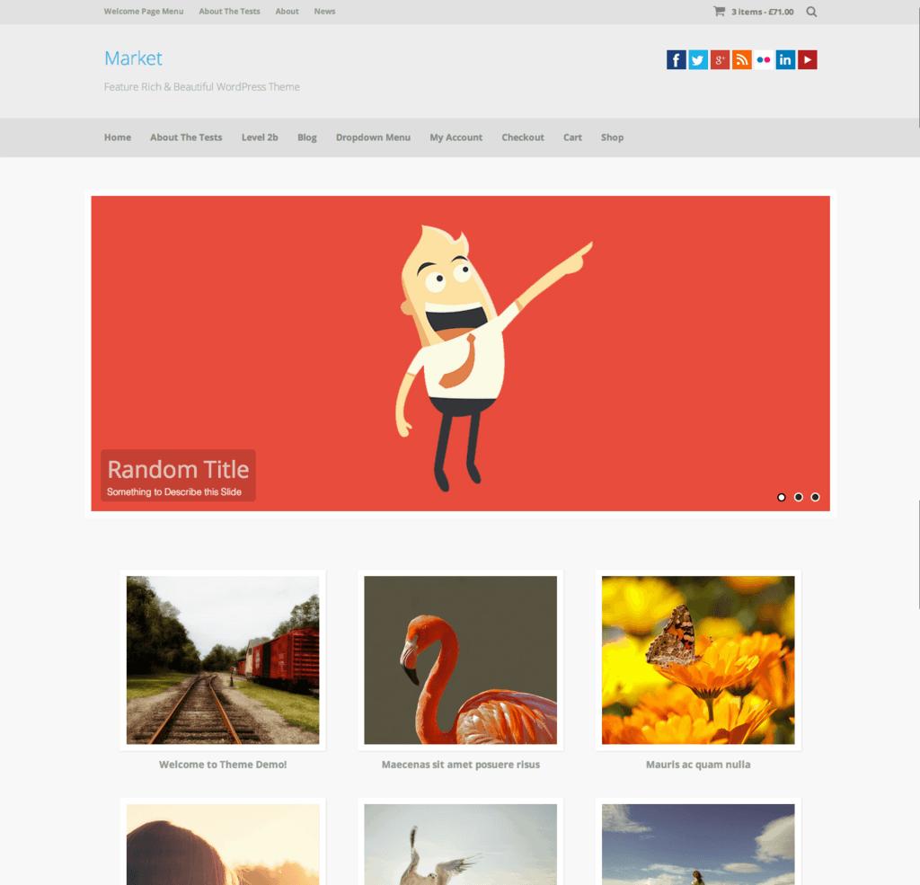 Market   Feature Rich   Beautiful WordPress Theme
