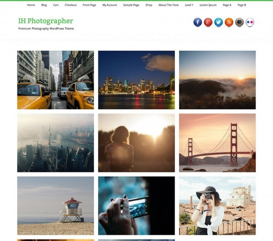 IH Photographer WP Theme for Photography