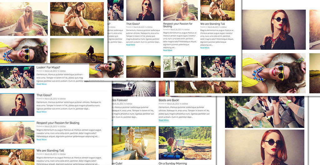 9multple blog layouts