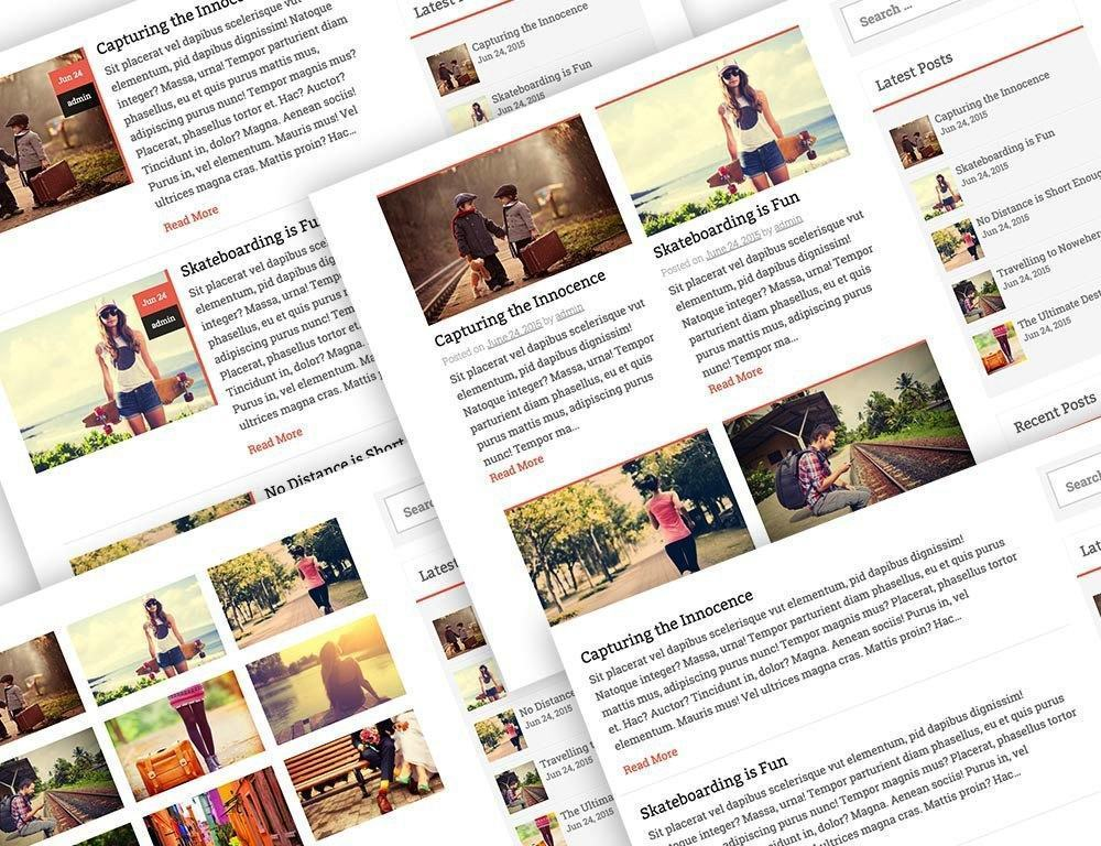 multiple blog layouts